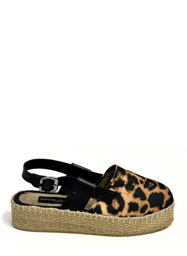 David Jones Espadril Leopar